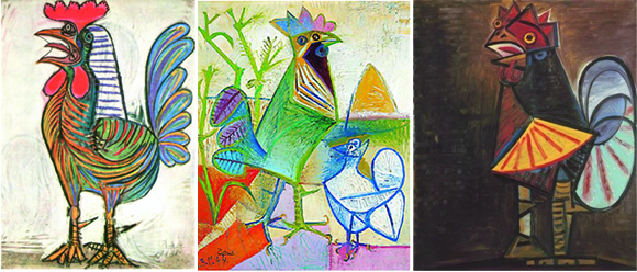 Picasso Roosters Examples