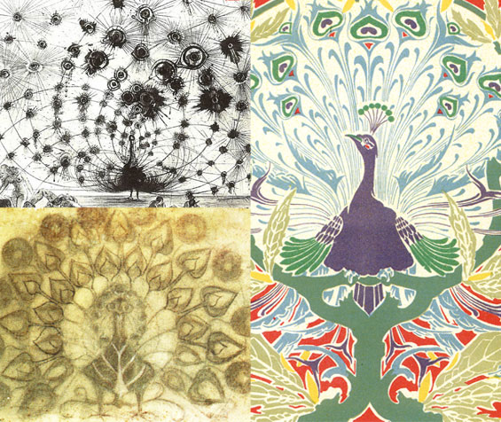 Salvador Dali Peacock Joan Miro Peacock Art Nouveau Peacock