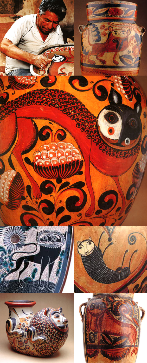 mexican nagual or nahual spirt animal ceramic
