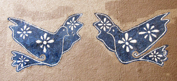 mexic doves wall art pattern
