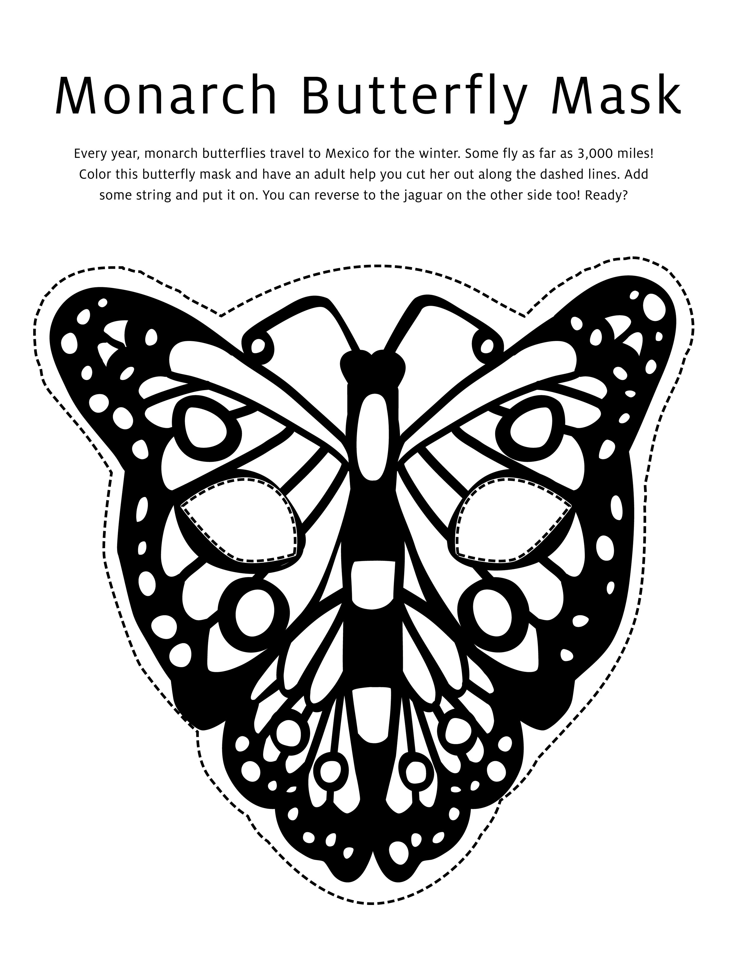 Butterfly Mask Coloring Page Crayola Com