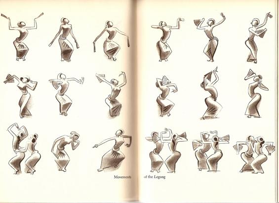 Legong Dancer Drawings Studio Tea Blog Collection