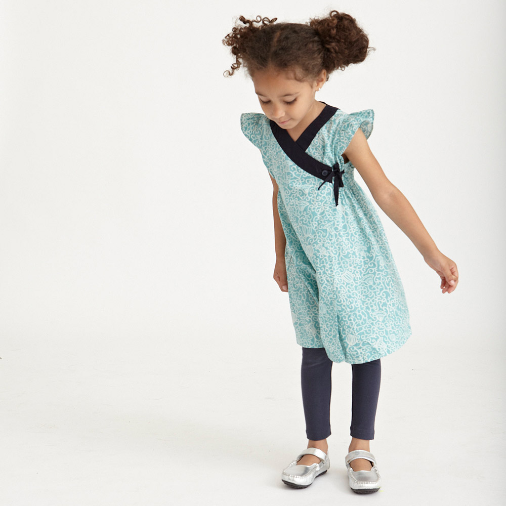 HANJI FLORAL WRAP Girls DRESS