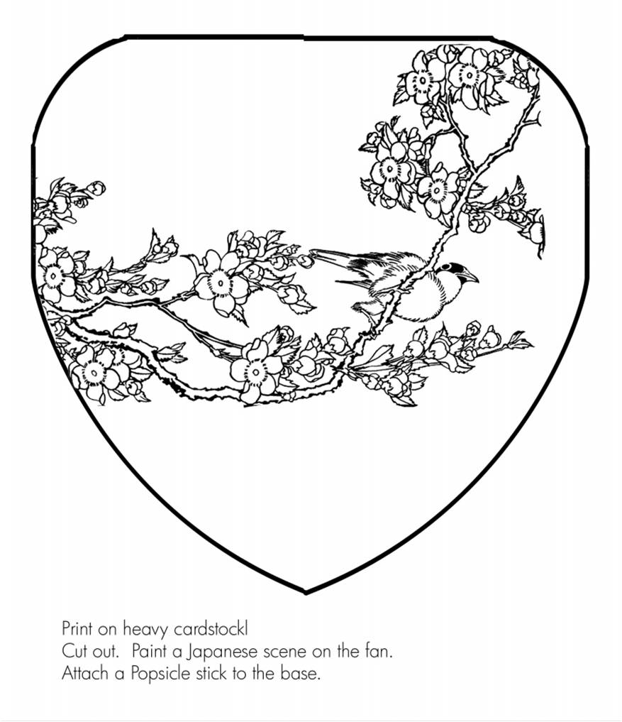 chinese fan coloring pages - photo#10