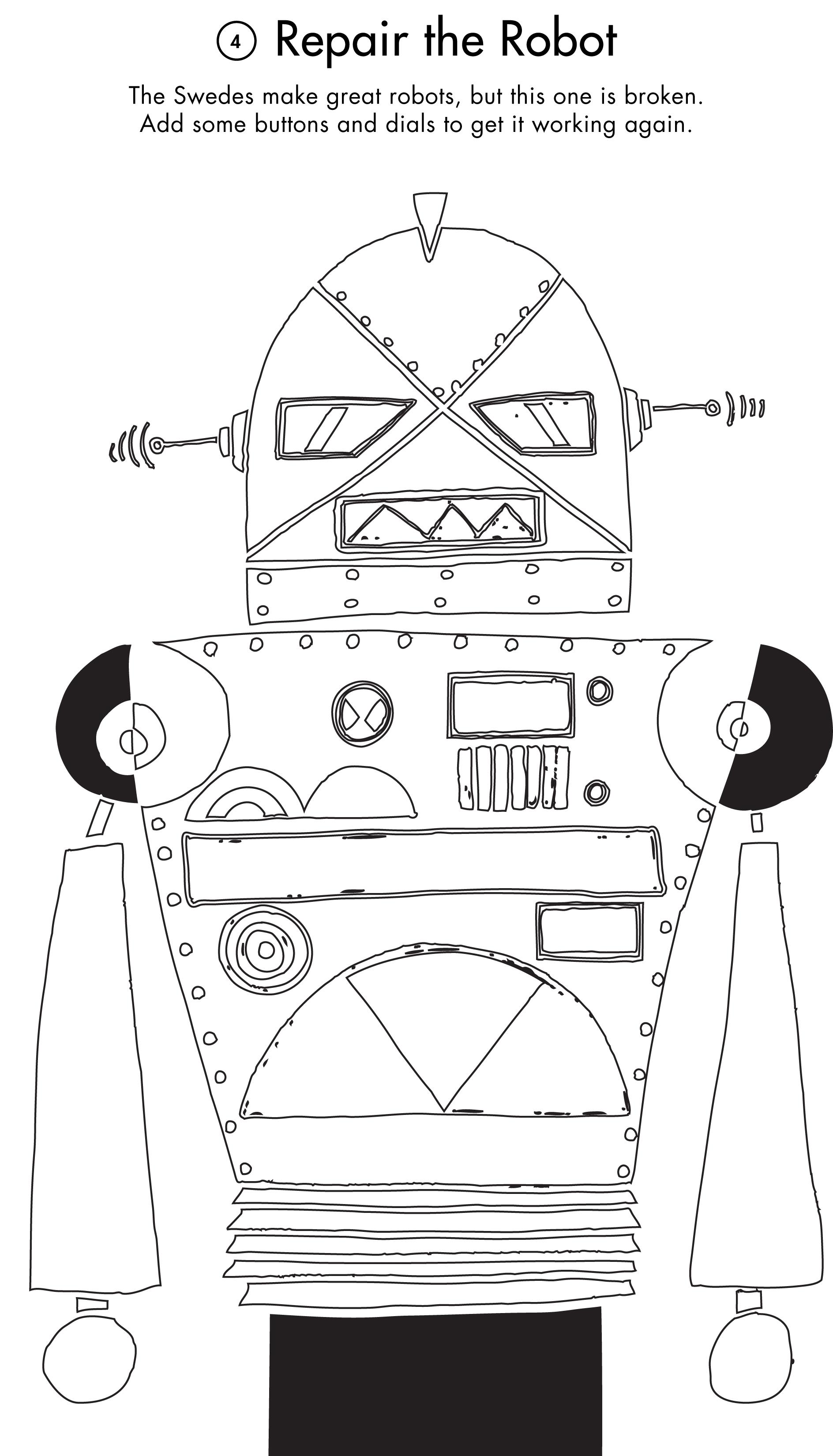 Activity Printout: Repair the Robot | Studio Tea Blog | Tea Collection