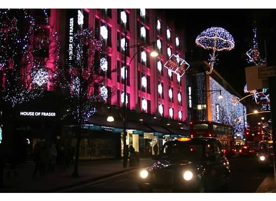 House of Fraser decked in holiday cheer.