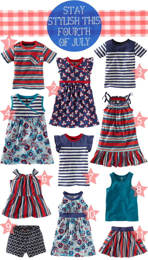 Stay stylish this fourth of July with Tea Collection!