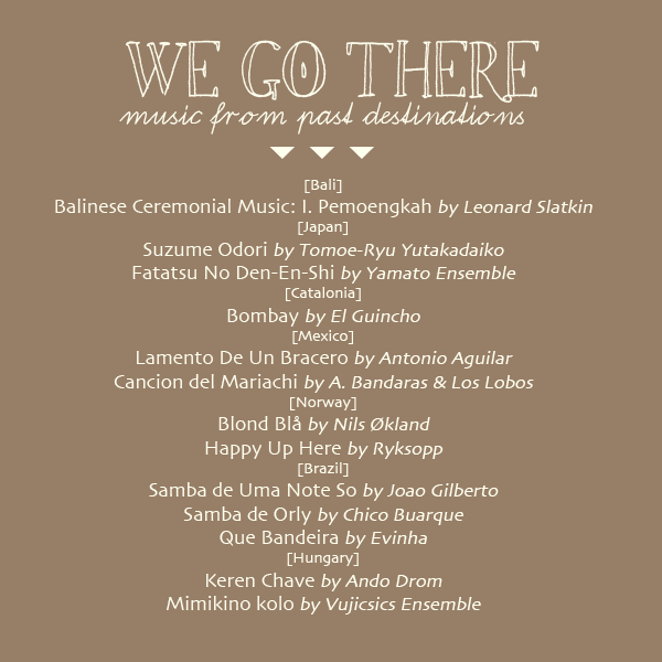 Tea Collection's 'We Go There' Playlist