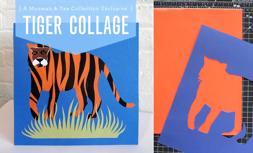 Moomah + Tea Collection DIY Tiger Collage