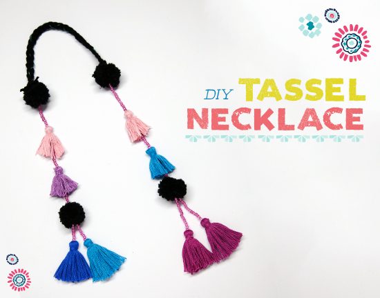 DIY Tassel Necklace via Tea Collection