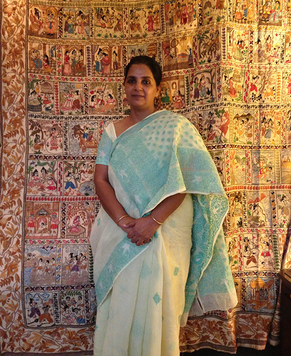 National Award winning Kantha Artist Mahamaya Sikdar